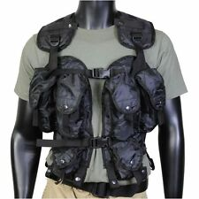 Tactical Assault Vest Black Many Pockets One Size Fits All