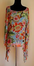 Oilily Pop Poncho Caftan Sheer Top sz 42 - worn for 2 hours