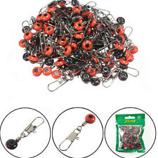 100x Fishing Barrel Swivels Connector Snaps Sinker Pin Tackle Sea Fish Rigs Link