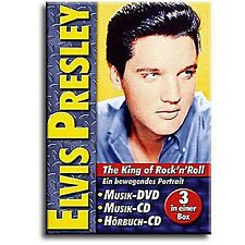 Elvis Presley - King of Rock 'n Roll ( DVD, CD & Hörbuch ) u.a Heartbreak Hotel