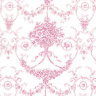 "Cotton 100% Satin Weave Fabric Bedding Covering Antique Dandy Damask Rose 44""w"