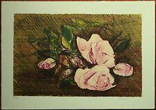Giancarlo Cazzaniga litografia  Rose 1982  50x35 firmata numerata La Spirale