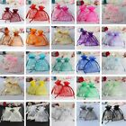 "100 Strong Sheer Organza Pouch 3x3.5"" 7x9cm Wedding Favor Jewelry Gift Candy Bag"