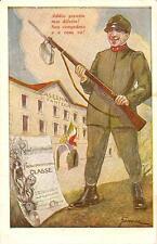 CASERMA DI FANTERIA  -  CARTOLINA DI CONGEDO..........illustratore G. DIDONE