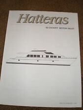 1997 HATTERAS 92 COCKPIT MOTOR YACHT MARKETING / SPECIFICATIONS BROCHURE