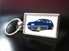 RENAULT CLIO WILLIAMS METAL KEY RING. CHOOSE YOUR CAR COLOUR.