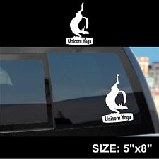 Unicorn Yoga - Namaste Exhale Breath Magical white vinyl cheap funny gift