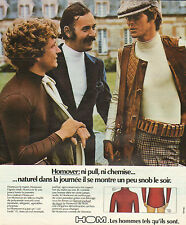 Publicité Advertising 1974  HOMOVER de HOM tee shirt lingerie