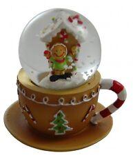 Gisela Graham Decorazione Di Natale Omino Di Pan Di Zenzero Tazza Palla Di Neve