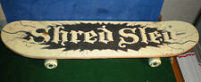 """SHRED SLED Glow in the Dark Skateboard Complete Used 31"""" long Good Condition"""