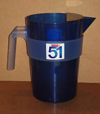 Carafe PASTIS 51 bleue plastique pot d'eau pichet pub bar bistrot pitcher