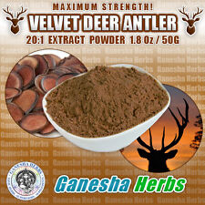100% PURE - DEER ANTLER VELVET 20:1 EXTRACT POWDER 1.8 oz. MAXIMUN STRENGTH!
