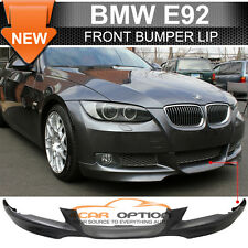 07-10 BMW E92 Only OE Style Front Bumper Lip Spoiler Unpainted Black - PP