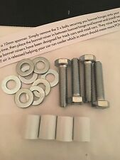 22mm LUCIDO BIANCO COFANO RAISERS HONDA CIVIC ek4eg6 i VTEC VTi ACCORD PRELUDE S2000