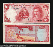CAYMAN ISLANDS $10 P7 1974 QUEEN CONCH RARE GB UK CARIBBEAN CURRENCY MONEY NOTE
