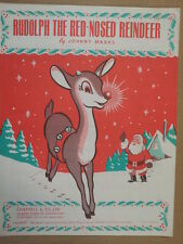 song sheet RUDOLPH THE RED NOSED REINDEER