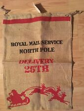 BNWT New Large Christmas Present Sack -  50cm x 70cm Jute North Pole Delivery