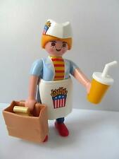 Playmobil Dollshouse/City/Cafe/Shopping mall figure: Waitress & fast food NEW