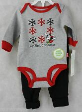 Disney My First Christmas Mickey Mouse Bodysuit & Pants Size 3 month NWT