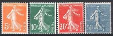 FRANCE ANNEE COMPLETE 1921 YVERT 158/161 , 4 TIMBRES SEMEUSE NEUFS xx LUXE  M889