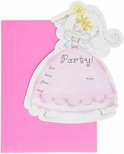 Princess Party Die-Cut Invitations 10 Cards &Envelopes Cute Birthday Girl