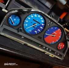 BMW E30 Custom Cluster Overlay set - M stripe edition