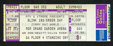 2002 Blink 182 Green Day unused full concert ticket MGM Grand Las Vegas