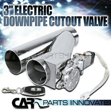 """3"""" Electric Exhaust Catback/Downpipe Cutout/E-Cut Out Bypass Valve Kit+Remote"""