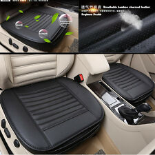 Bamboo Charcoal PU Leather Autos Seat Full Surround Cover Protector Cushion Mat