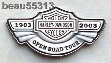 HARLEY DAVIDSON 2003 100th ANNIVERSARY OPEN ROAD VEST JACKET HAT PIN