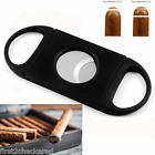 Cigar Cutter Stainless Steel Double Blades Guillotine Knife Pocket Scissors  NEW