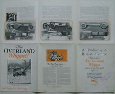 Willys Overland Whippet Original UK Market Sales Brochure