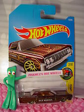'64 LINCOLN CONTINENTAL #15✰Burgundy; gold 10sp; W✰✰2017 i Hot Wheels Case A