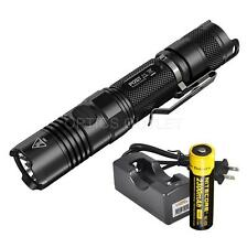 NiteCore P12GT 1000 Lumen LED Flashlight w/ 1 x 18650 Battery, Lumentac Charger