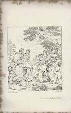 1835 Engraved Artwork Reconciliation Of Jacob And Laban Busby  ~ Sands / P de Co