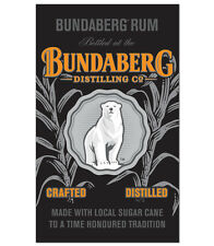 BUNDABERG WALL BANNER - Bar Flag Sign Pool Room Man Cave Den Rum Bundy Gift