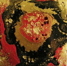 """COPPER RUSSET GALAXY Painting A Day Series Mixed Media 6""""x6""""Julia Garcia Art"""