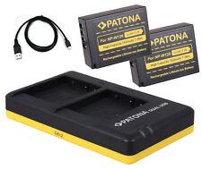 2 x Patona Akku + Dual-Ladegerät für Fuji-Film X-T1 / X-T2 / X-T10 - NP-W126-S
