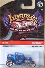 HOT WHEELS LARRY'S GARAGE 1/64 SCALE BONE SHAKER#19 BLUE SKULL WITH REAL RIDERS