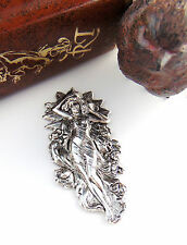 SILVER Water Goddess Woman Mermaid Stamping ~ Antique Silver Finding (C-308) `