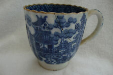 RARE ANTIQUE WORCESTER? MOCK ORIENTAL MARK SMALL PAINTED BLUE WHITE CHINESE CUP