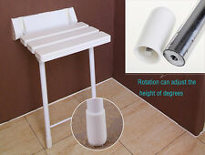 sundely Wall Mounted Shower Seat Chair with Fold up, Drop down Adjustable legs