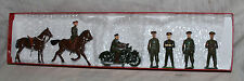 Vintage Britains Set No. 1907 Staff Officers - Plus Extras - Motorcycle
