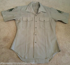"~GENUINE USMC MARINE CORPS CHARLIE UNIFORM SHIRT KHAKI SHORT SLEEVE 43"" CHEST"