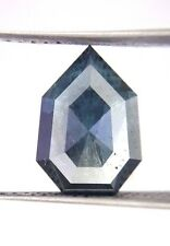 4.02TCW Blue Color Antique Pear shape Rose cut African Loose Natural Diamond
