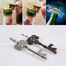 1Pcs Vintage Key Shape Portable Metal Beer Glass Bottle Cap Opener Keychain Gift