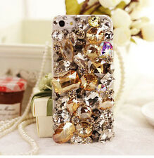 Hot Diy Bling Large crystal Finished HARD Case cover for APPLE iPhone 4 4S FEZGG