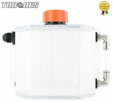 Torques 1 Litre Capacity AN-8 -8AN Oil Breather Catch Tank Can Brushed Aluminium
