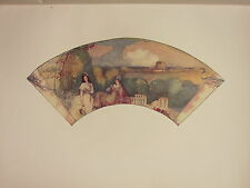 1902 STUDIO PRINT ~ FAN PAINTED ON SILK (BRITISH) ~ FRANK CONDER LADIES