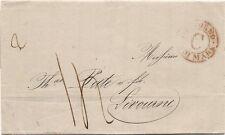 P8479   Genova, lettera per Livorno, annullo Via di mare C rosso, 1856